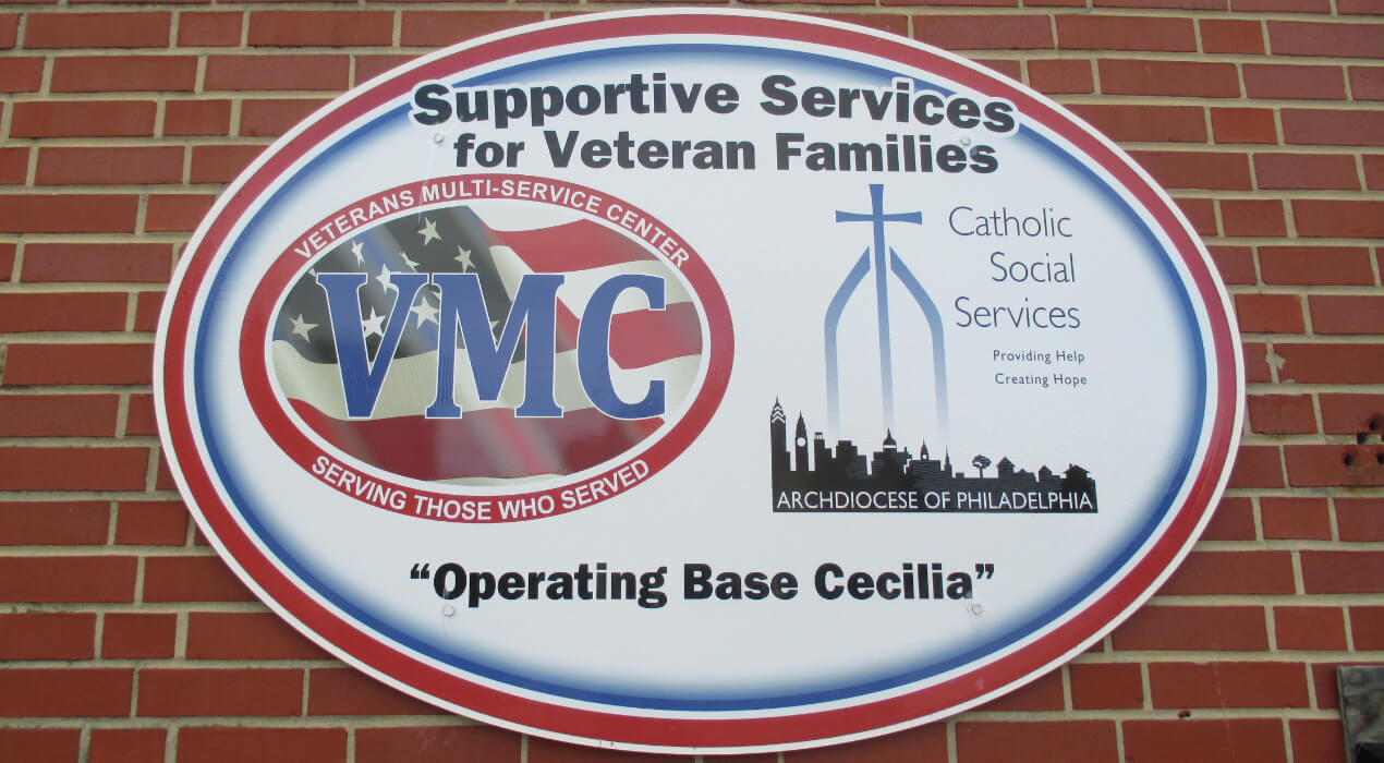 Operating Base Cecilia Logo outside their building