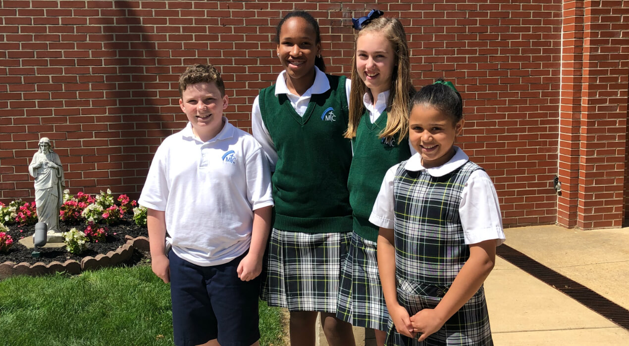 Four students from Mother Teresa Regional Catholic School