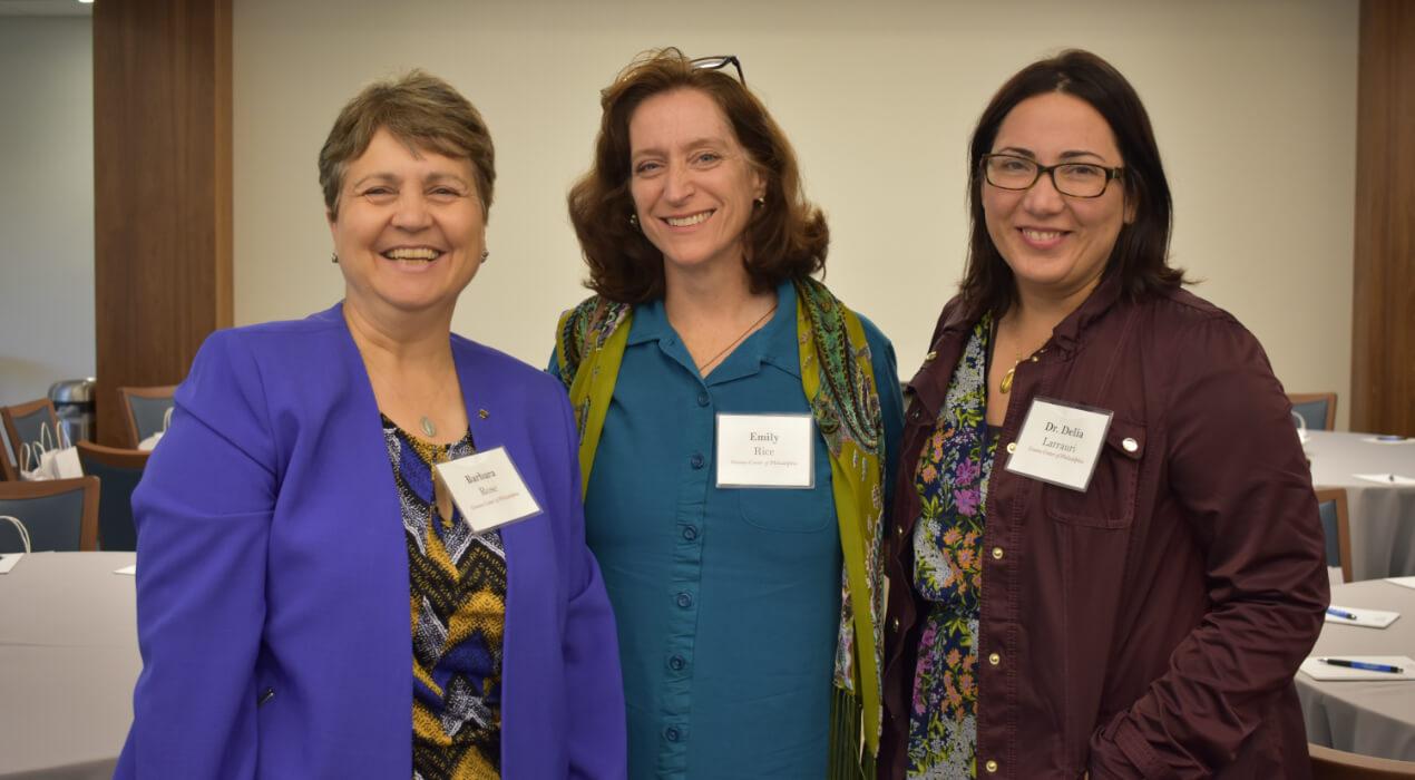 Three women from the Gianna Center of Philadelphia