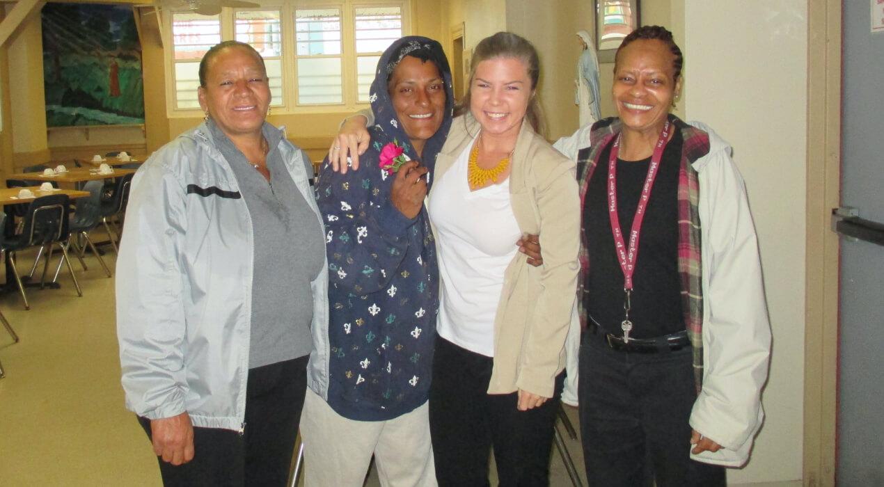 Four women from the Thea Bowman Women's Center