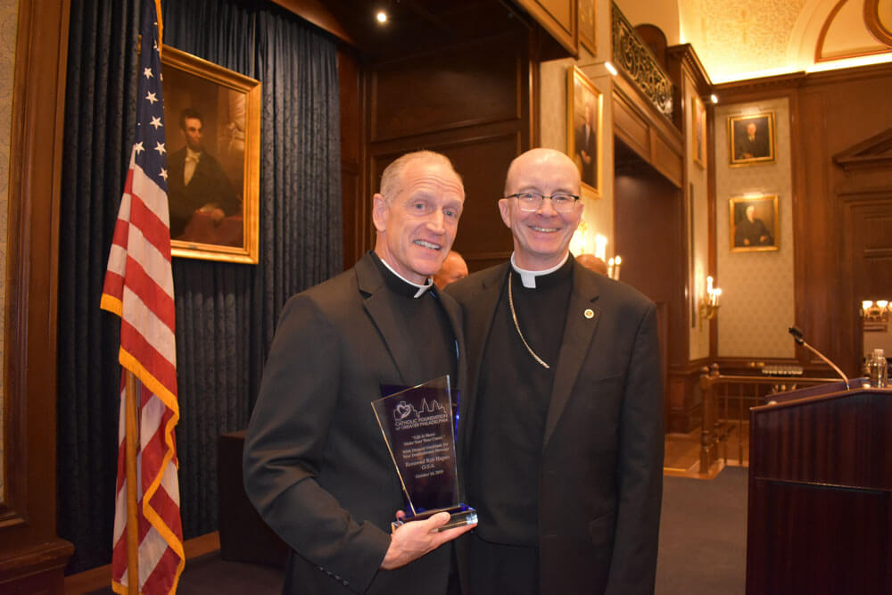 Rev. Rob Hagan, O.S.A. and Most Reverend Timothy C. Senior